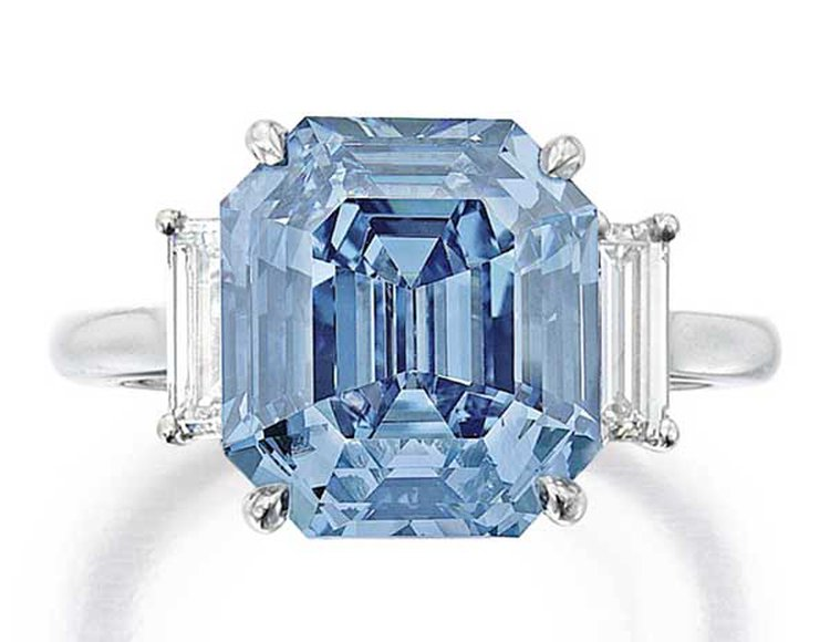 5.69-Carat Fancy Vivid Blue Diamond Fetches $15.1 Million at Sotheby's New York