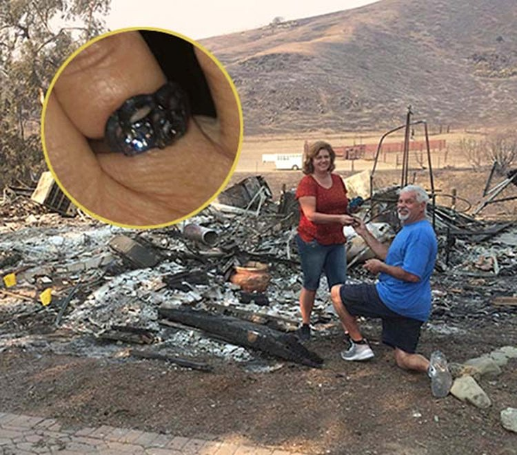Blackened Wedding Ring Pulled From the Ashes Inspires Wildfire Survivor to Propose All Over Again