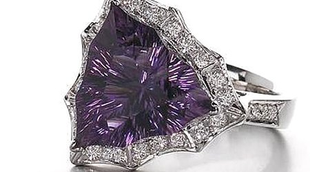 This 10-Carat Gem-Quality Amethyst Was Mined by Hand in Four Peaks, Arizona