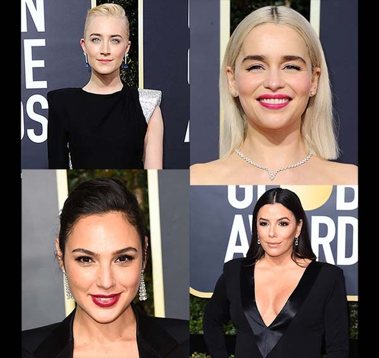 Platinum Jewelry Complements Solidarity 'Blackout' at the 75th Annual Golden Globe Awards